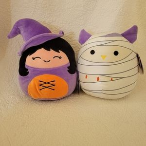 Winnie the Witch and Holly the mummy Squishmallow